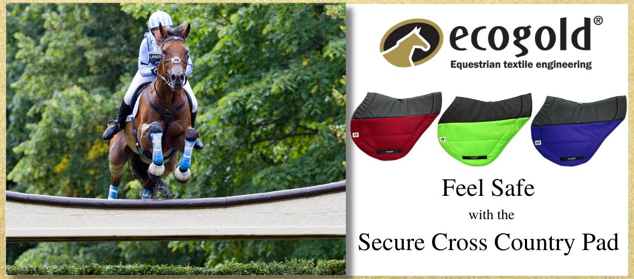 ecogold secure cross country saddle pad slider