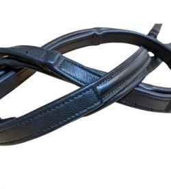 qhp calfskin wrapped invisible hand stop reins